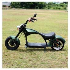 Электроскутер Citycoco Harley Chopper 2000W - зеленый
